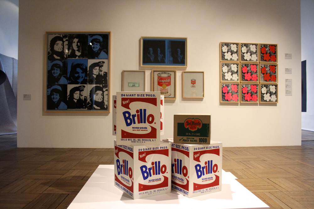 andy-warhol-white-brillo-boxes-1964-5-boxes-silkscreen-on-wood