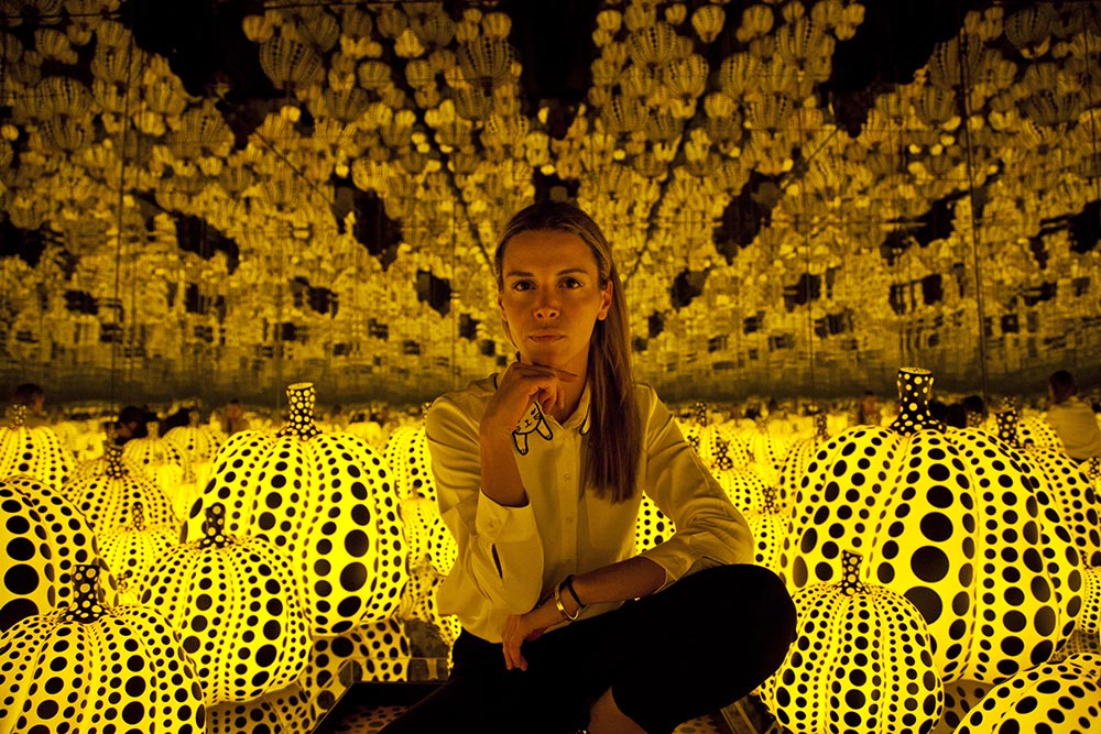 Yayoi Kunama, Infinity Mirrored room, All the Eternal Love I Have for the Pumpkins (2016)